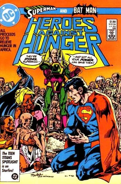 USA HEROES AGAINST HUNGER | 123533 | JIM STARLIN - CARY BATES - ELLIOT S. MAGGIN - PAUL LEVITZ - MIKE W. BARR - MICHAEL FLEISHER - BOB RO | Universal Cómics