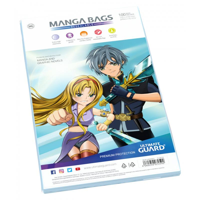 BOLSAS PARA COMIC TAMAÑO MANGA CIERRE FACIL | 4260250072592 | ULTIMATE GUARD | Universal Cómics