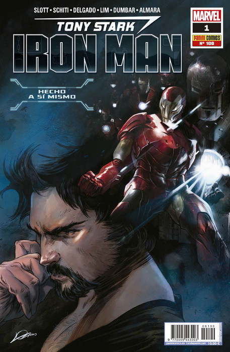 INVENCIBLE IRON MAN VOL 2 # 100 TONY STARK IRON MAN 01 | 977000544300300100 | DAN SLOTT - VALERIO SCHITI | Universal Cómics