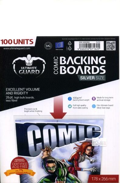 BACKING BOARDS SILVER CARTONES PARA COMIC ULTIMATE GUARD | 4260250071625 | ULTIMATE GUARD | Universal Cómics
