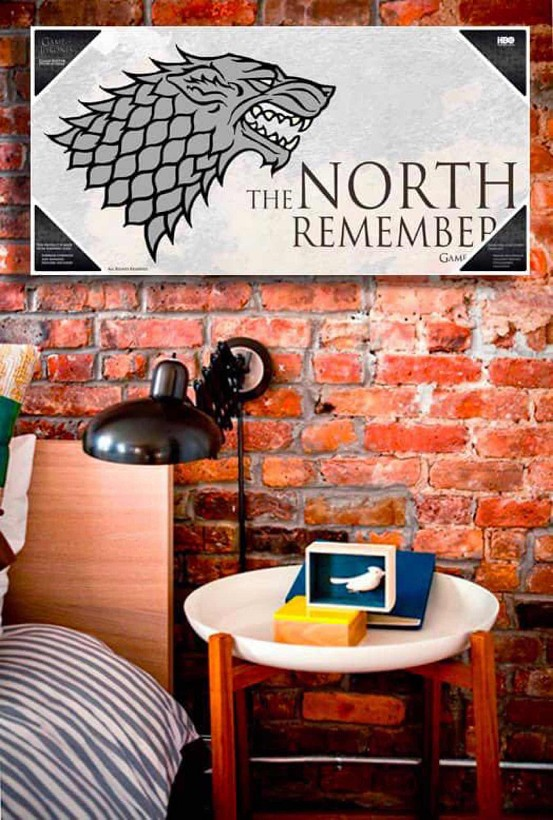 THE NORTH REMEMBERS POSTER DE VIDRIO GAME OF THRONES 60X30 CM | 8436546891956 | Universal Cómics