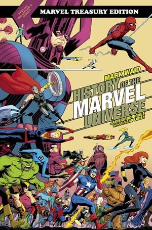 USA HISTORY OF THE MARVEL UNIVERSE TREASURY ED TP RODRIGUEZ CVR DM VAR | 978130292482952999 | MARK WAID - JAVIER RODRIGUEZ | Universal Cómics